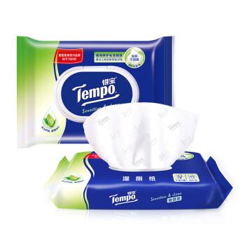 得宝(Tempo) 湿厕纸 敏感性肌肤 40片装 私处清洁湿纸巾 可搭配卫生纸使用