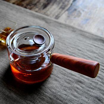 雅集侧把壶 耐热玻璃过滤茶壶煮茶壶泡茶壶花茶壶 耐高温泡茶器功夫茶具