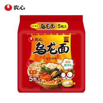 农心(NONG SHIM) 乌龙面拉面 方便面 袋面速食零食品 五连包 120g*5包