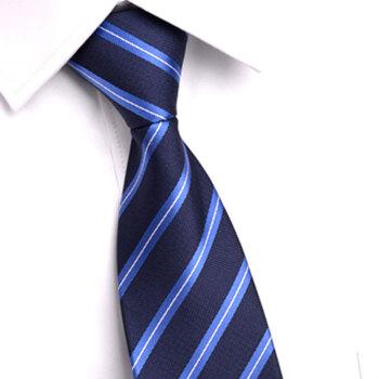 GLO-STORY 拉链领带 男士商务正装潮流领带礼盒装MLD824066 宝蓝色