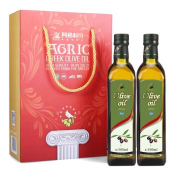 希腊 AGRIC阿格利司 橄榄油 500ml*2瓶 礼盒(新老包装随机发放)
