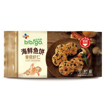 必品阁(bibigo)香菇虾仁海鲜鱼饼 240g(8个 早餐 儿童食材 方便速食)