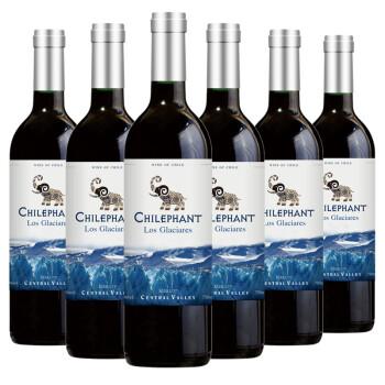 智利进口红酒 智象冰川美露干红葡萄酒750ml*6瓶 整箱装