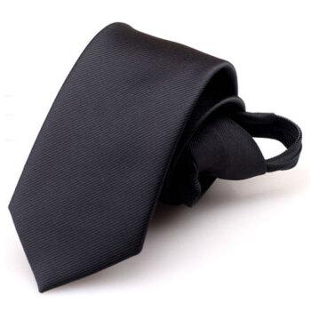GLO-STORY 领带男 韩版商务懒人方便易拉得时尚领带礼盒装MLD824061 黑色