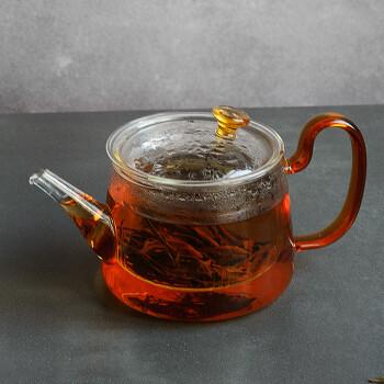 雅集玻璃茶壶 耐高温过滤可加热茶壶家用功夫茶具泡茶壶煮茶壶580ml
