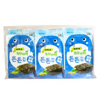韩国进口 海地村 紫菜海苔 儿童零食 橄榄油宝贝海苔 12g