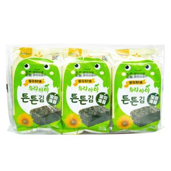 韩国进口 海地村 紫菜海苔 儿童零食 葵花籽油宝贝海苔 12g