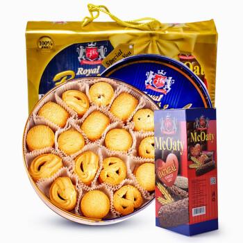 马来西亚进口 GPR曲奇饼干礼盒装908g+144g燕麦棒 年货礼盒 零食大礼包