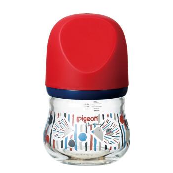 贝亲(Pigeon) 奶瓶 玻璃奶瓶 新生儿 宽口径玻璃奶瓶 婴儿奶瓶 臻宝奶瓶 80ml(刺猬 ) 自然实感SS码奶嘴