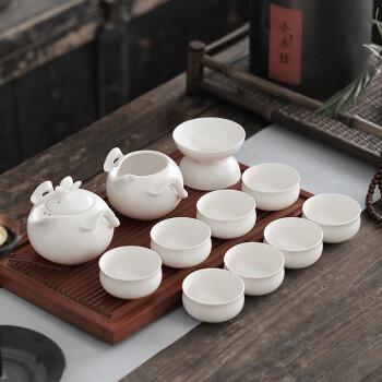 言艺 功夫茶具 整套陶瓷功夫茶具套装茶壶茶海 莺歌蝶舞