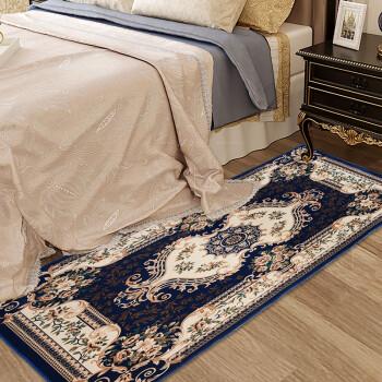 江南叶欧式地毯 珊瑚绒印花地垫飘窗垫 客厅茶几地毯卧室床边毯 80*160cm