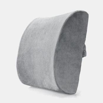 FOOJO记忆棉腰靠慢回弹 汽车办公室靠垫腰枕 学生腰垫靠枕靠背 灰色