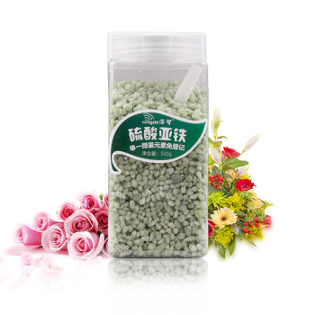 溶智硫酸亚铁花肥盆栽花肥通用植物补铁施控肥料500g/瓶