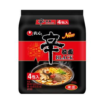 农心 NONG SHIM 辛拉面Black 袋面 方便面速食食品 134g*4 四连包