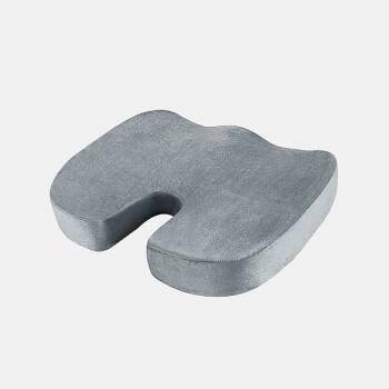 FOOJO慢回弹U型椅垫坐垫 记忆棉办公室椅子垫透气坐垫 学生增高垫美臀屁屁垫 灰色