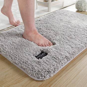 富居 加厚柔软吸水地垫门垫 防滑浴室垫脚垫 40*60cm深空灰