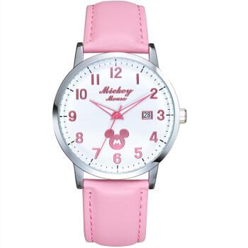 迪士尼(Disney)儿童手表女孩中小学生石英表女童夜光指针手表韩版樱花粉少女表MK-13001P1