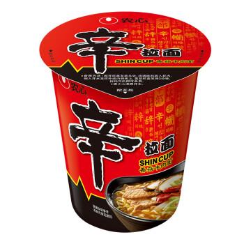 农心 NONG SHIM 香菇牛肉味 辛拉面 杯面 方便面泡面速食食品 65g 单杯