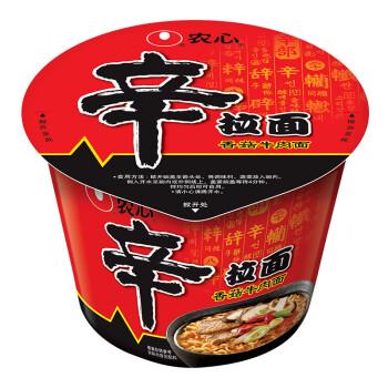 农心 NONG SHIM 香菇牛肉味 辛拉面 碗面 方便面泡面速食食品 114g 单碗