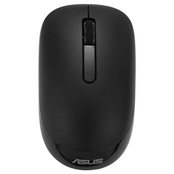 华硕(ASUS)WT205黑色静音无线游戏办公鼠标自营便携笔记本家用台式机PC电脑即插即用USB人体工学一年换新