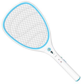 雅格 YG-5634 电蚊拍充电式 LED灭蚊拍电苍蝇拍灭蝇拍电池可更换余电提醒
