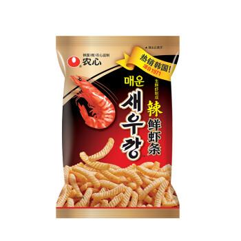 农心 NONG SHIM 辣味 鲜虾条 袋装 膨化食品 休闲零食 90g