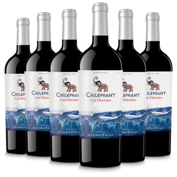 智利进口红酒 智象冰川窖藏美露干红葡萄酒750ml*6瓶 整箱装