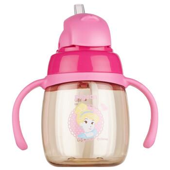 贝亲(pigeon) 吸管杯 双把手 PPSU 学饮杯 婴儿水杯 儿童水杯 宝宝水杯 迪士尼 灰姑娘  8个月以上180ml