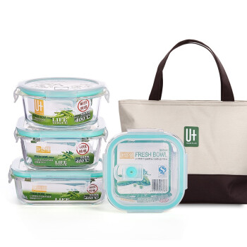 限华中:U+ 悠佳 J-1064-W 保鲜饭盒四件套 2套