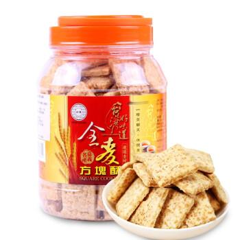 台湾手信 好乔How Chiao全麦方块酥 特产 进口全麦粗粮饼干糕点500g