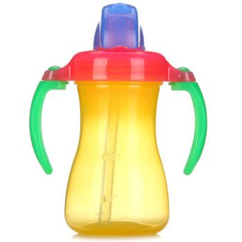 贝亲(pigeon) 吸管杯 双把手 婴儿水杯 儿童水杯 宝宝水杯 黄色 9个月以上 180ml DA45
