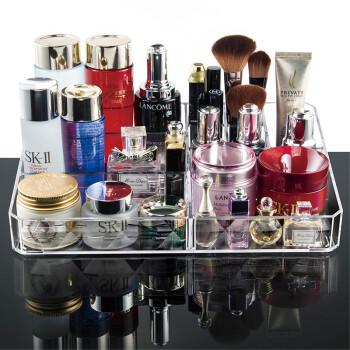 Vilscijon维简亚克力化妆品收纳盒创意大号桌面整理盒首饰品口红亚克力化妆盒透明 2230