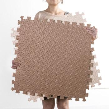 迈亚地垫客厅卧室满铺儿童拼图泡沫爬行垫4片套装60*60cm(咖+米)约1.44平米