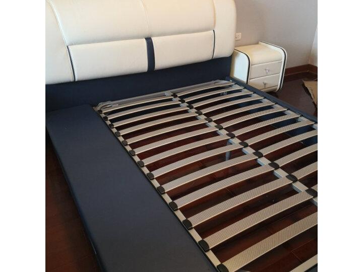 (直降)全友家居皮床 现代简约头层牛皮双人床 主卧室1米8软床 真皮婚床带软靠 105125质量如何?好不好,质量如何【已解决】 好货爆料 第4张