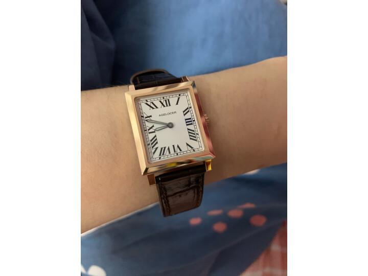 艾戈勒(agelocer)瑞士手表 寇德克斯系列方形女士石英表3402A1【时尚百搭】怎么样?大咖统计用户评论,对比评测曝光2 评测 第7张
