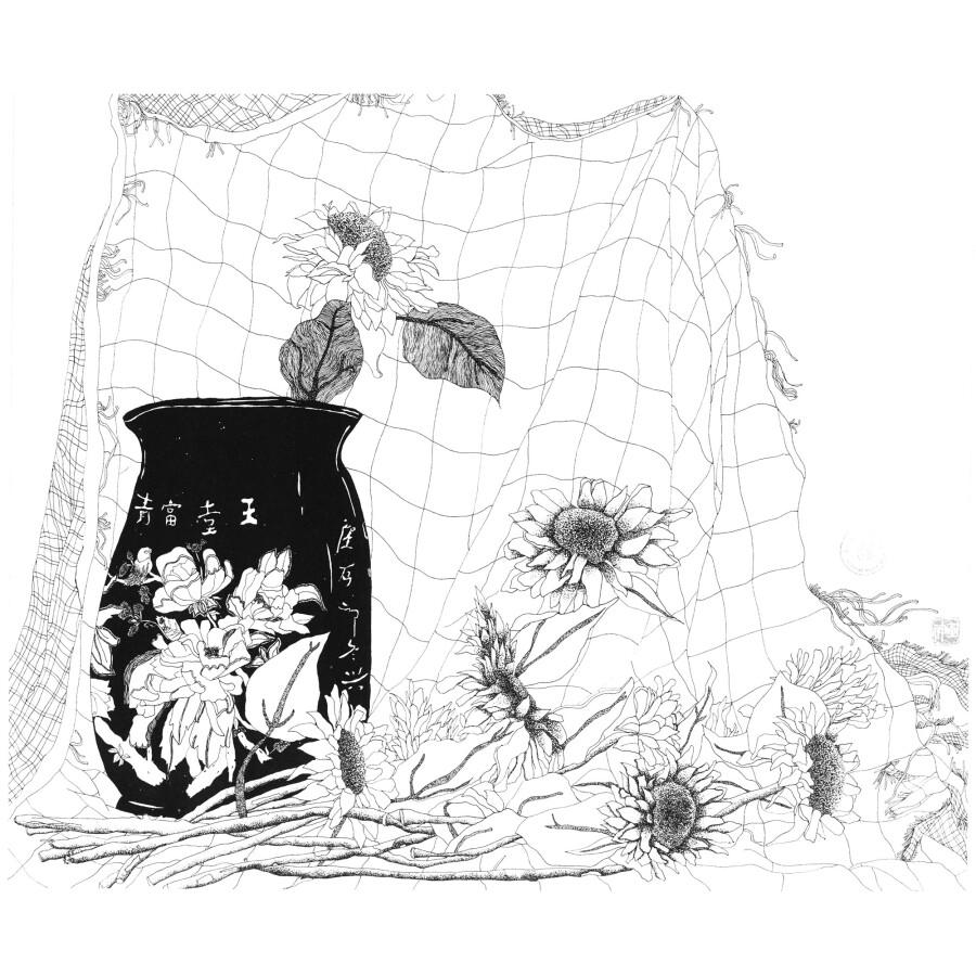 中国东方神画美术教育系列丛书 东方神画·学生作品集 线的散步:静物图片