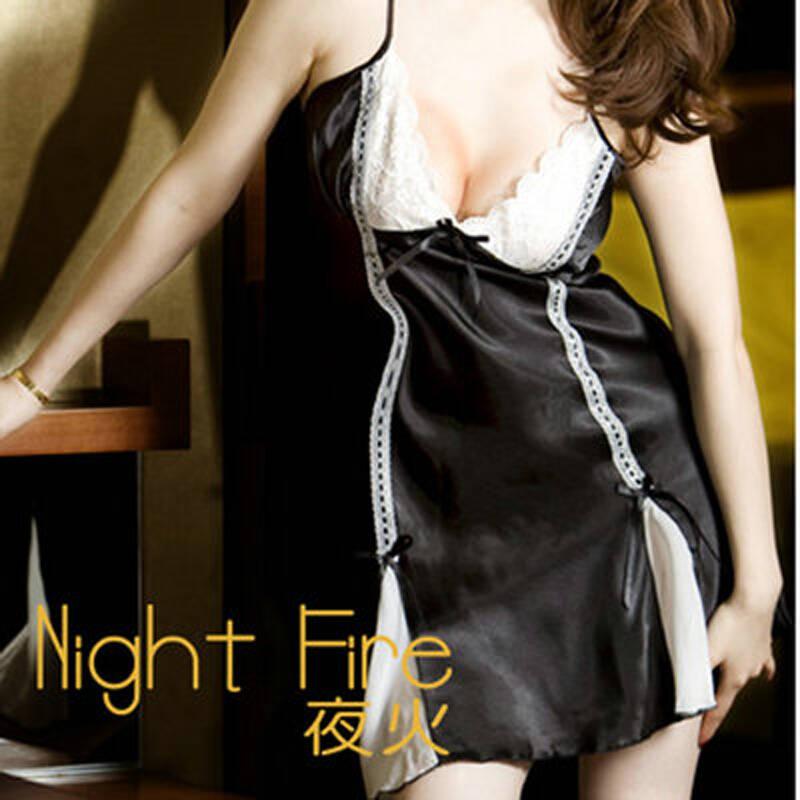 夜火情趣内衣蕾丝睡衣情趣黑色酒店公主睡裙a1038均码性感性感bt+tp图片