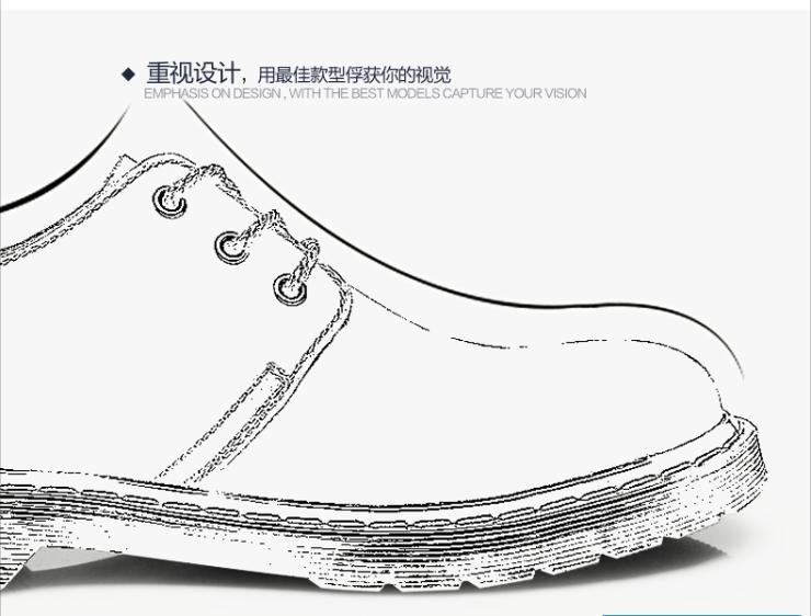 皮鞋英伦磨砂真皮大头工装板鞋简约牛皮马丁短靴潮