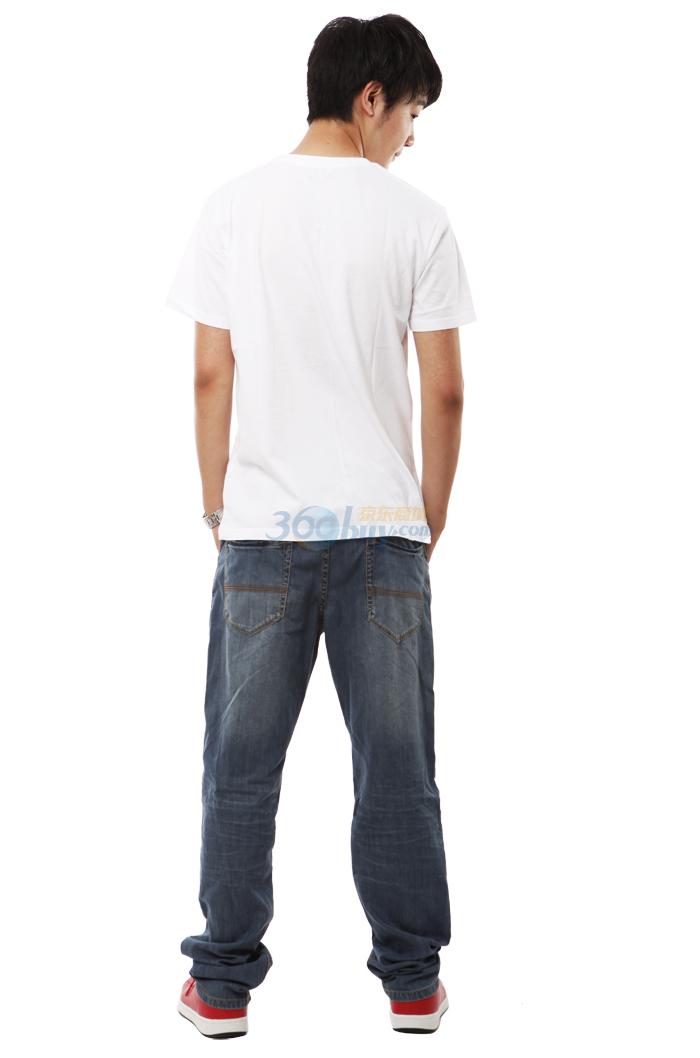 以纯t恤男装休闲圆领短袖t恤   以纯t恤男装休闲圆领短袖针...