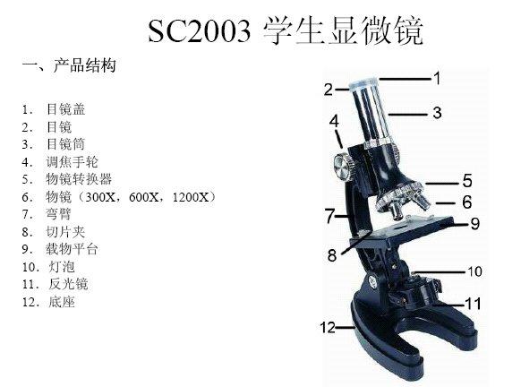 SC2003 1200倍学生显微镜图片