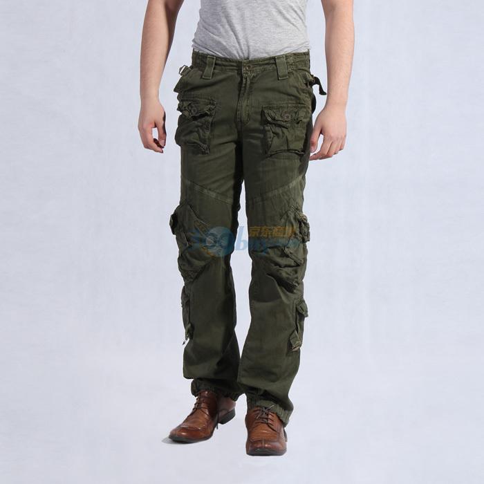 多口袋休闲裤