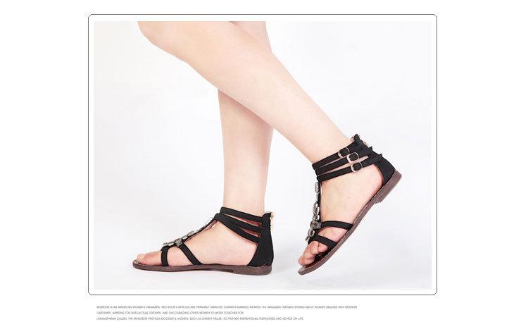 热风坡跟夹趾凉鞋