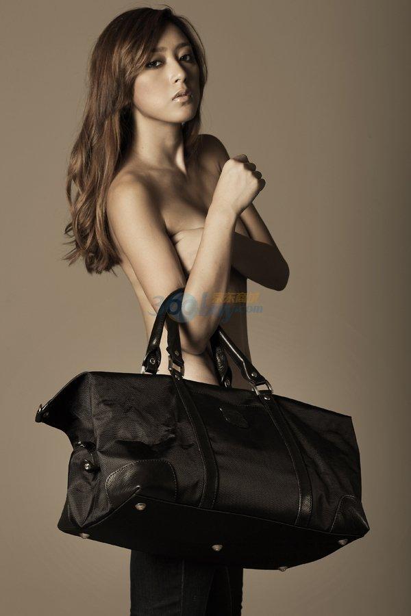 正品HARRYSON哈迪森帆布配牛皮手提斜跨行李包c00539,119元包邮
