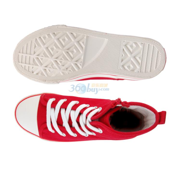 鞋儿童高帮帆布鞋