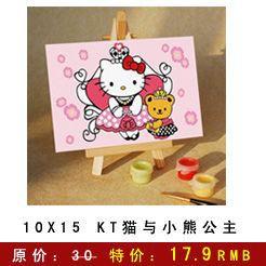 diy数字油画 装饰画 手绘无框画 绘画kt猫