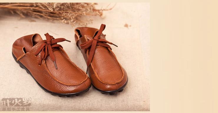 tokharoi吐火罗2013新款女士真皮单鞋平底女鞋892