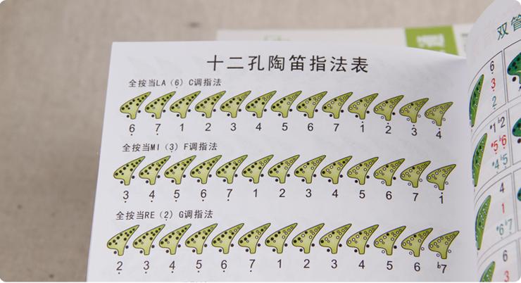 陶笛一点通十二孔陶笛入门必备教材实用12孔陶笛教材图形曲谱