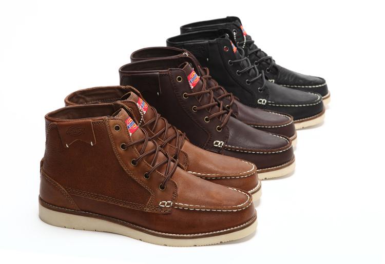 高帮皮鞋黑图片