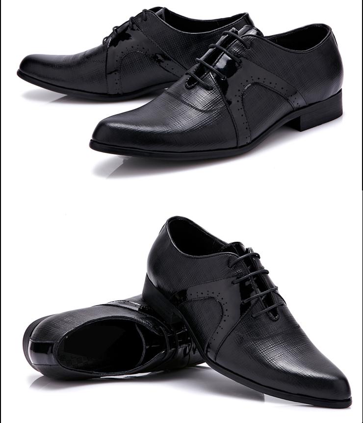 英伦复古男鞋系带男士尖头皮鞋子男韩版