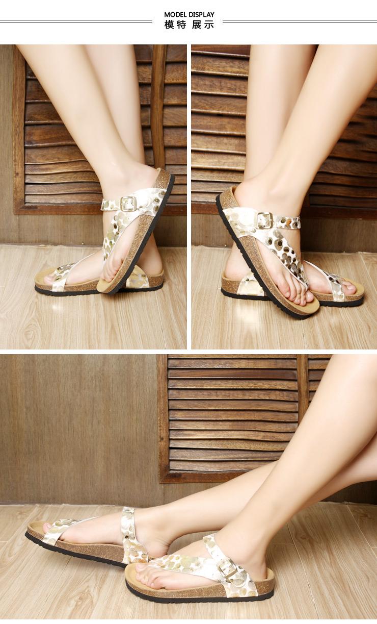 牧宝女士夏季清凉软木底养生型健康凉鞋xt1110